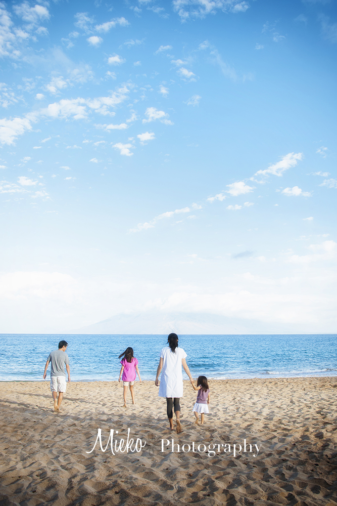 Maui Family Portrait – Maui Photographer – Mieko Photography – 普段着の家族写真