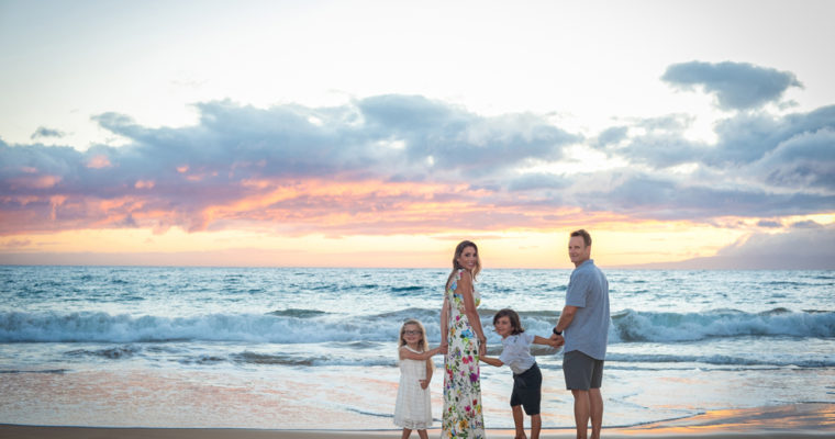 Maui Family Portrait at Makena Surf Beach – Furnari Family