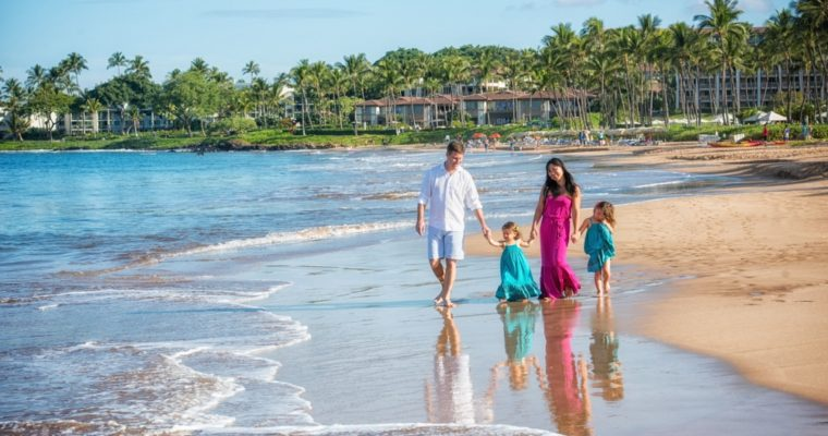 Four Seasons Resort Maui Family Portrait – Ince Family – Wailea Beach Portrait Session, Mieko Photography