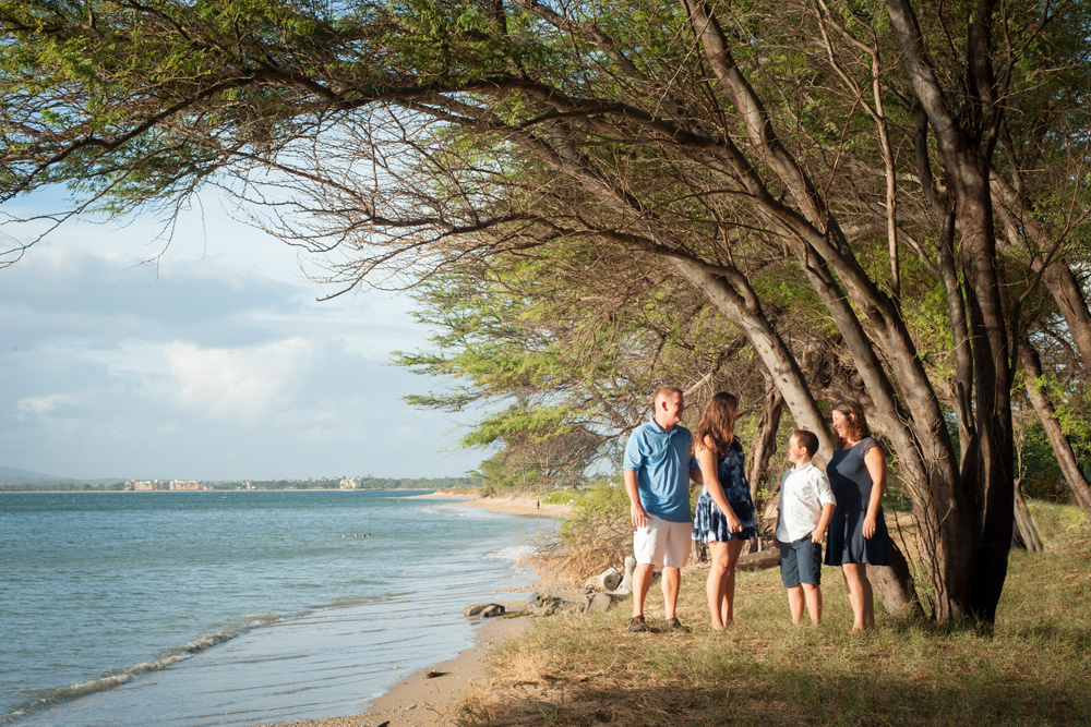 Family Portrait at the beach, Maui, Mieko Photography