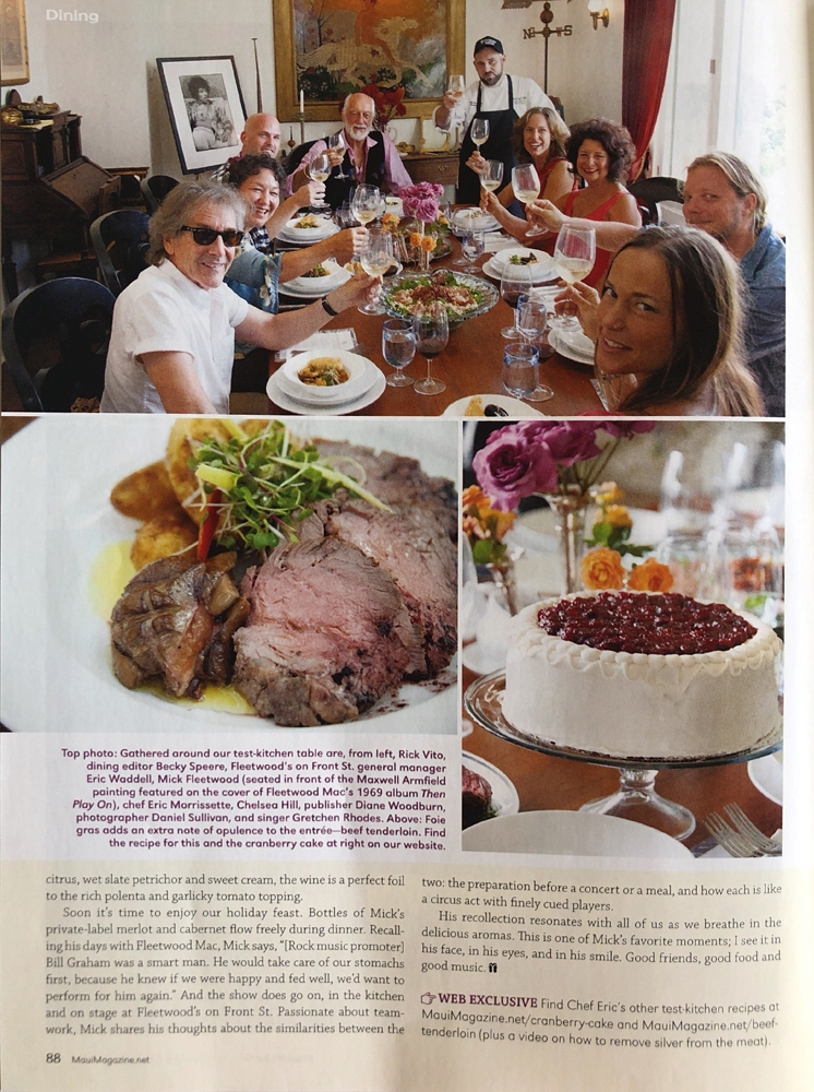Editorial Assignment for Maui No Ka Oi Magazine -Holiday Test Kitchen with Mick Fleetwood - 3