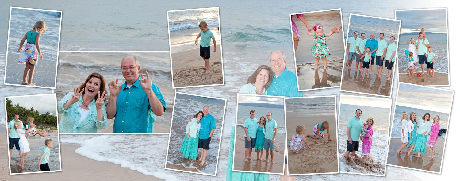 Wailea Family Beach Portrait Album
