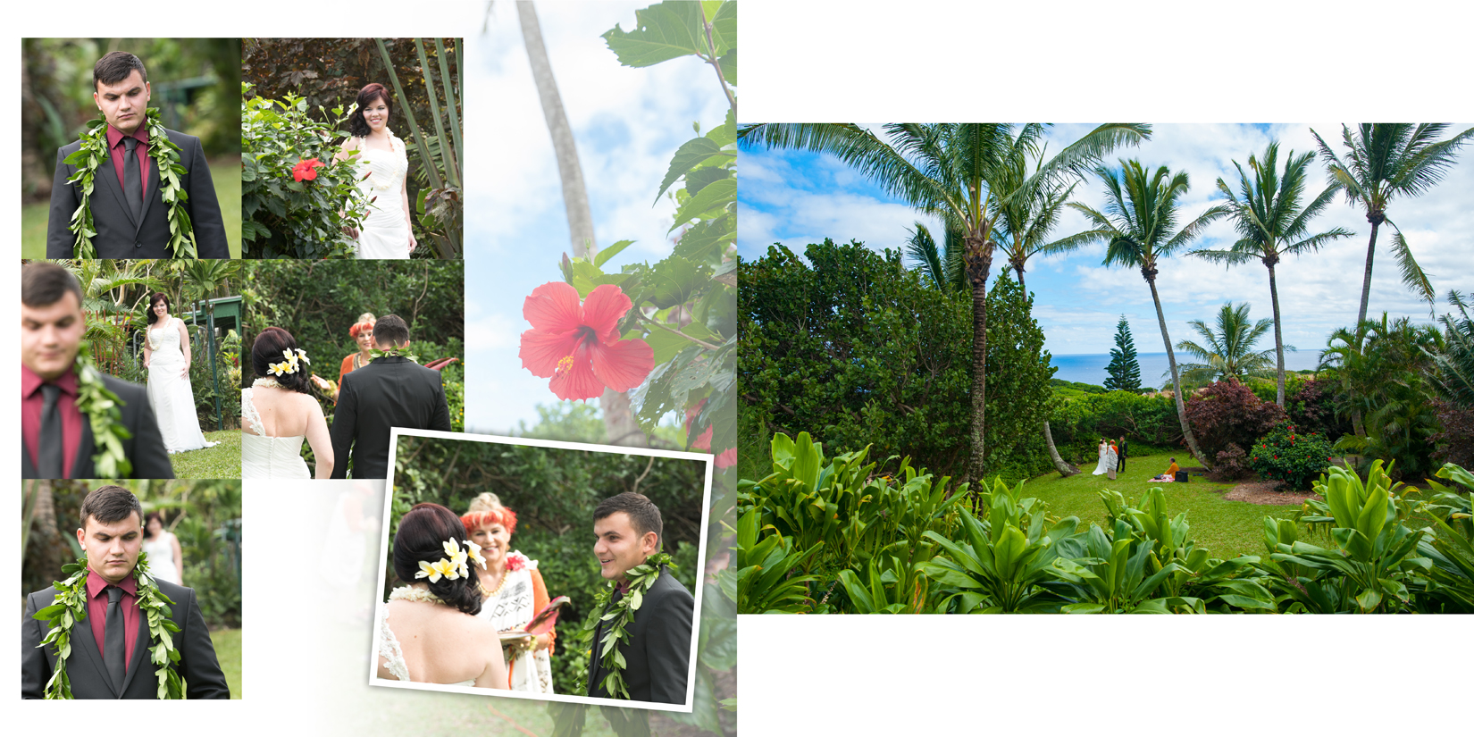 Maui Wedding Photography at Panoramic Tropical Setting in Haiku
